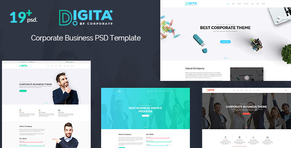 Digita - Corporate Business PSD Template - PSD Templates