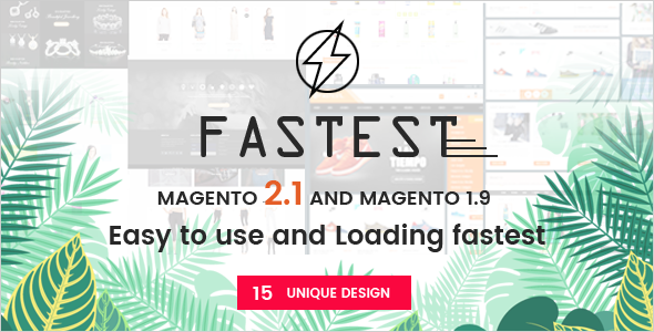 Fastest - Magento 2.2.0 themes & Magento 1. Multipurpose Responsive Theme (12 Home) Shopping,Fashion
