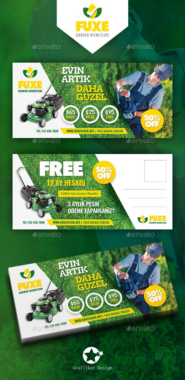 Garden Landspace Postcard Templates - Cards & Invites Print Templates