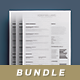 Simple Resume/Cv Bundle Volume 2 - GraphicRiver Item for Sale