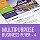 Multipurpose Business Flyer Template 4 - GraphicRiver Item for Sale