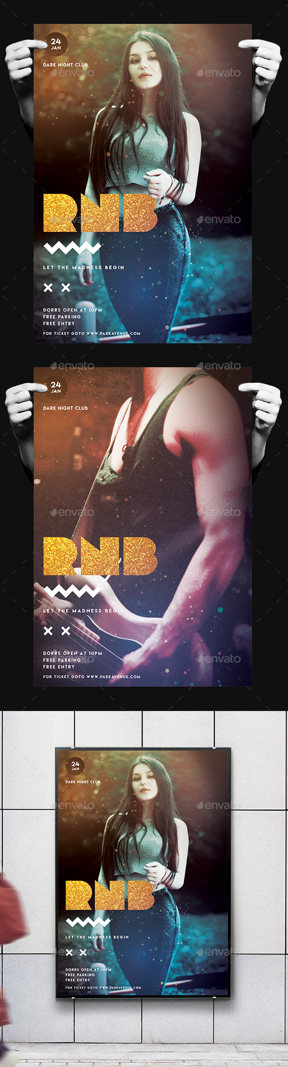 RNB Sounds Flyer/Poster - Clubs & Parties Events