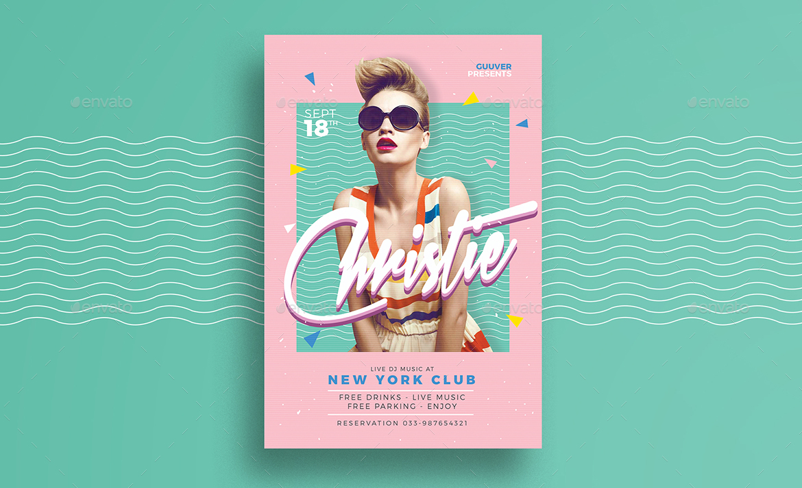 90s poster design - Preview Image Set Preview Jpg