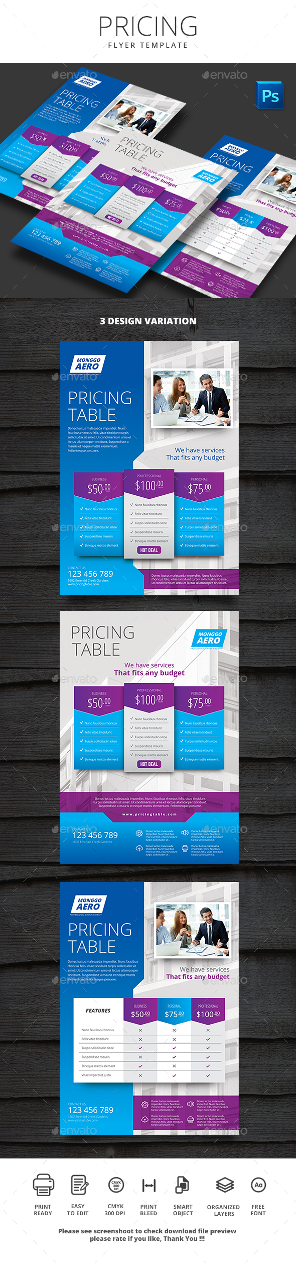 Pricing Flyer - Flyers Print Templates
