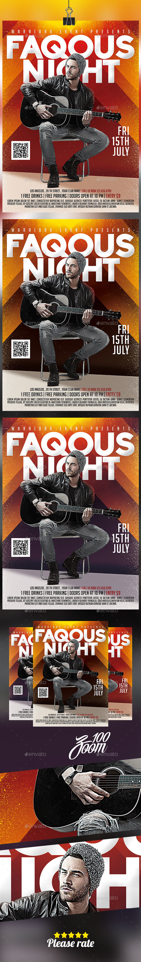 Faqous Night Flyer - Clubs & Parties Events