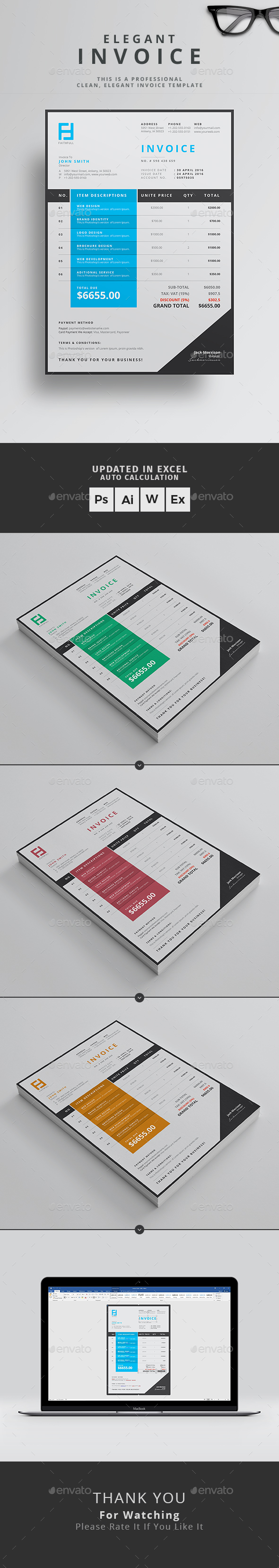 How To Turn Off Read Receipts Word Invoice By Themedevisers  Graphicriver Snappy Invoice Word with Credit Card Receipts Template Pdf Invoice  Proposals  Invoices Stationery On Receipt Of Invoice