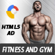 Fitness Ads Banner HTML5 - GWD - CodeCanyon Item for Sale