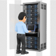 3D Information Technology Technician Working in Rack Network Server Room - GraphicRiver Item for Sale