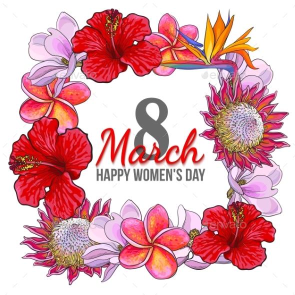 Womens Day Design - Decorative Symbols Decorative