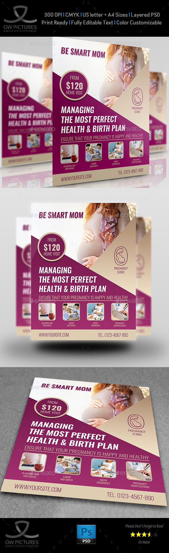 Pregnancy Flyer Template - Flyers Print Templates