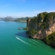 Drone Flying Behind the Mountain. Amazing Landscape View. Krabi, Thailand.  Aerial . - VideoHive Item for Sale