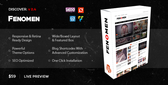 Fenomen | Legendary Blog & Magazine WordPress Theme - Blog / Magazine WordPress