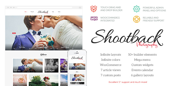 Shootback - Retina Photography WordPress Theme