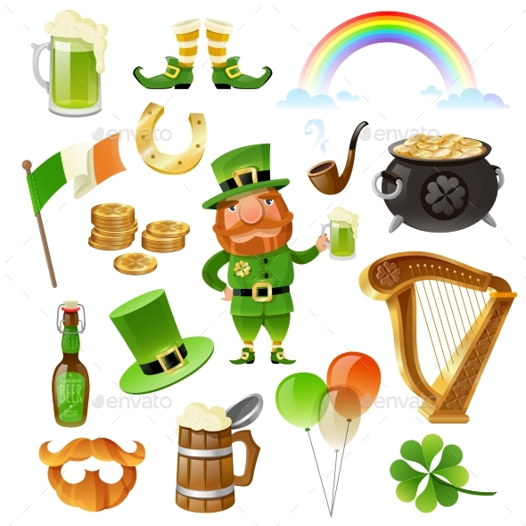 Saint Patrick Day Elements Set - Miscellaneous Seasons/Holidays