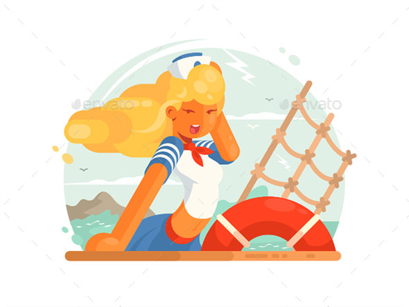 Girl Sailor - People Characters