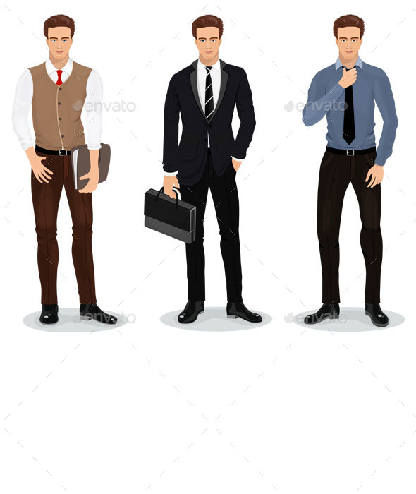 Set of Businessmen - People Characters