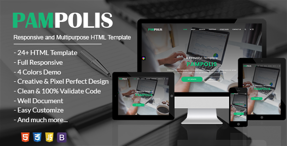 Pampolis - Responsive, Multi-Purpose & eCommerce HTML5 Template - Creative Site Templates
