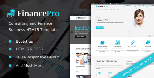 FinancePro – Consulting and Finance Business HTML Template