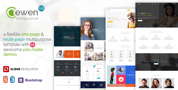 Ewen - One Page & Multi Page - Business Corporate