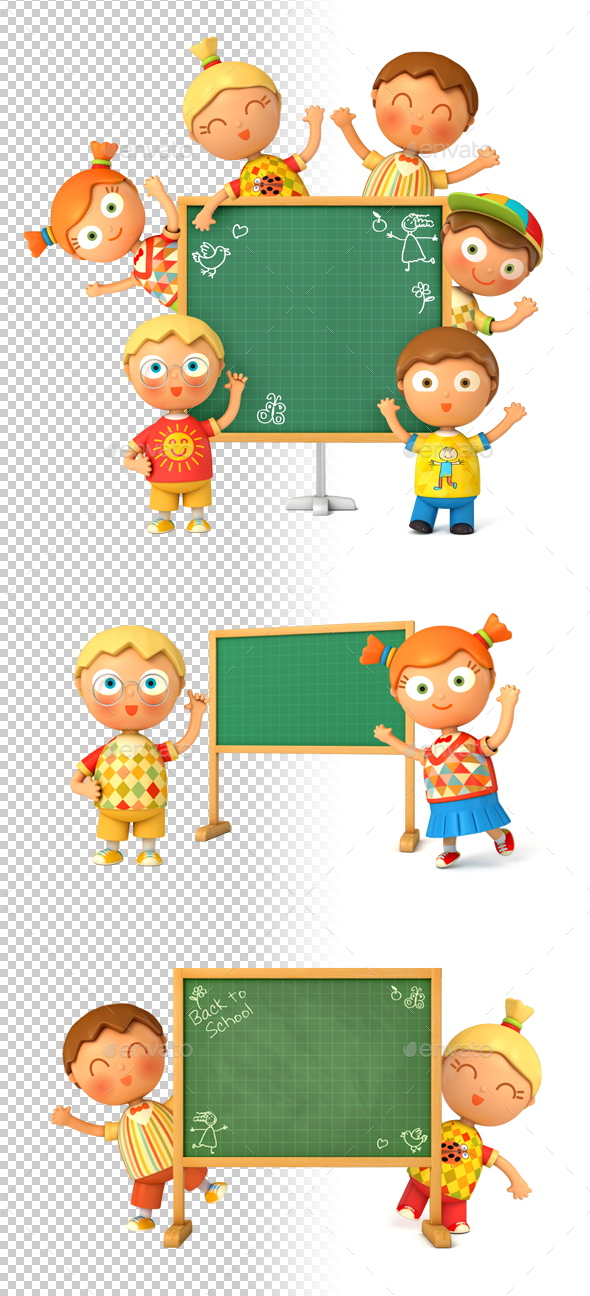 Back to School - Characters 3D Renders