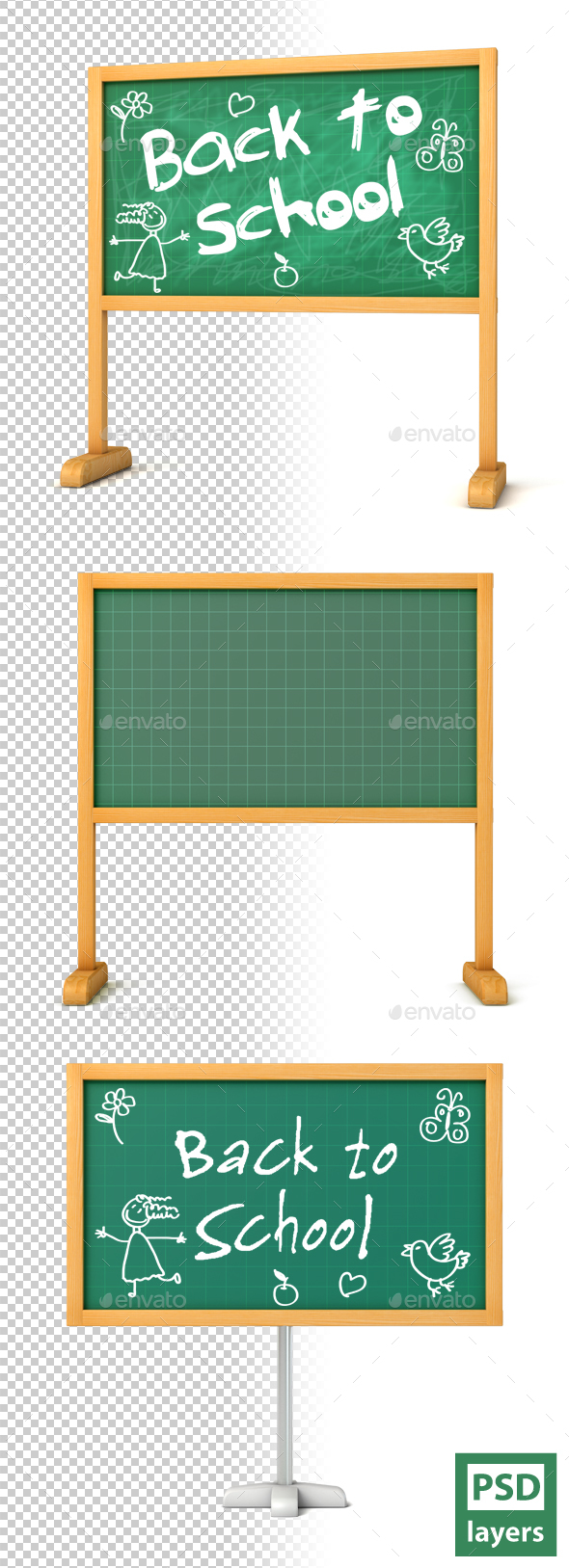 Blackboard - Objects 3D Renders