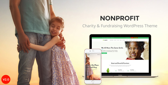 Nonprofit - NGO, Nonprofit Charity organization WordPress Theme