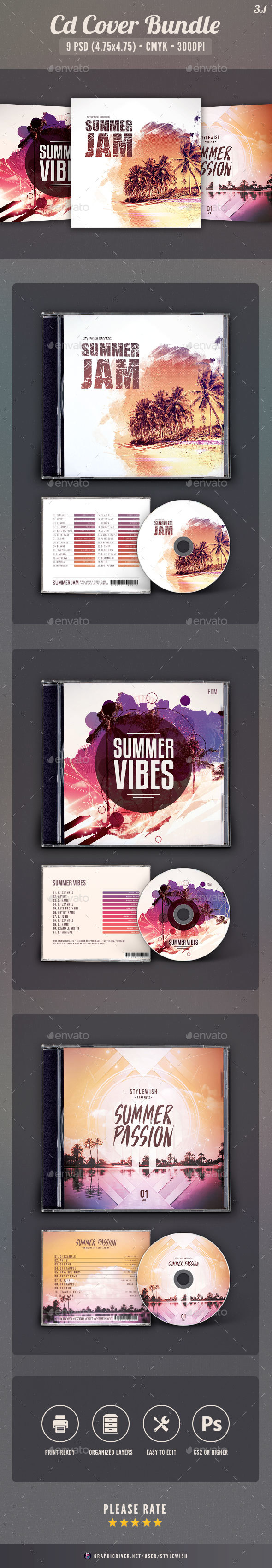 Summer CD Cover Bundle Vol.03 - CD & DVD Artwork Print Templates