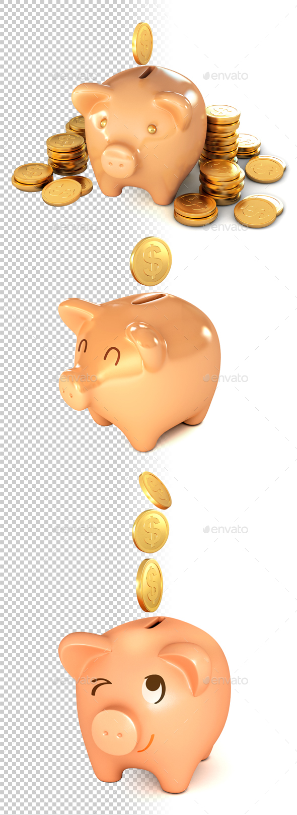 Piggy Bank - Objects 3D Renders