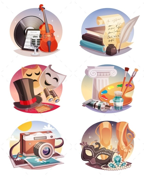 Arts Round Compositions Set - Miscellaneous Conceptual