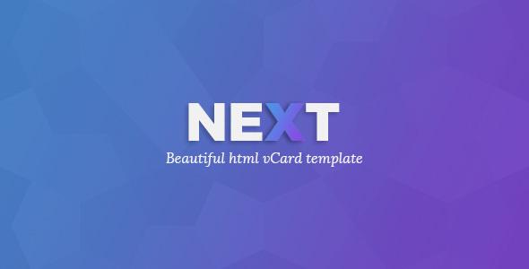 NEXTVCARD - Personal CV/Vcard Template - Personal Site Templates