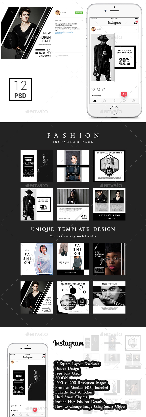 Promotional Instagram Fashion Pack - Web Elements