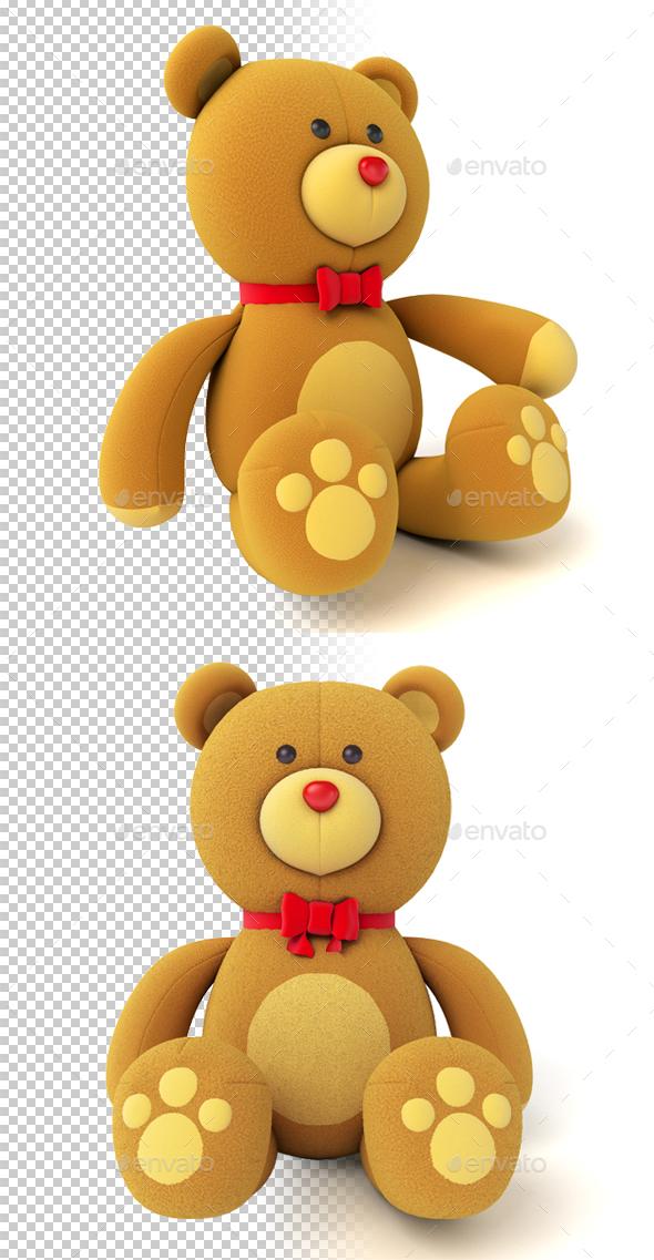 Teddy Bear - Characters 3D Renders