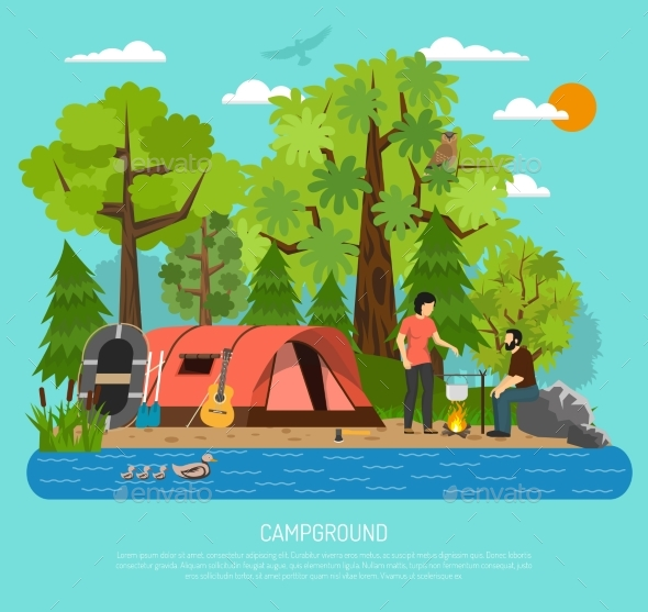 Campground Recreation Family - Landscapes Nature