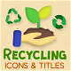 Recycling Motion Icons & Titles - VideoHive Item for Sale
