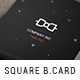 Simple Absract Square Business Card - GraphicRiver Item for Sale