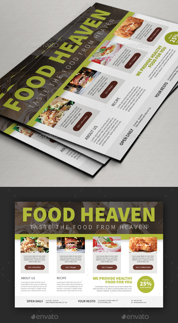 Edit Foods Flyer Templates V2