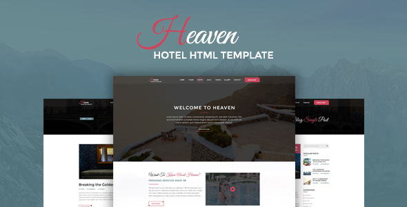 Heaven – Responsive Onepage Hotel HTML Template