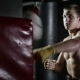 Athlete Starts Work with a Pneumatic Punching Bag. - VideoHive Item for Sale