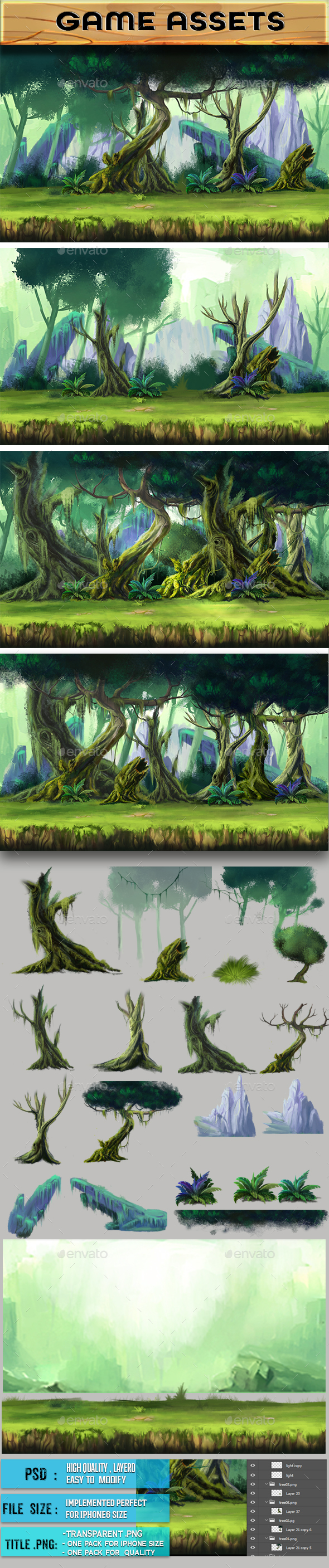 2D Game Assets - Backgrounds Game Assets