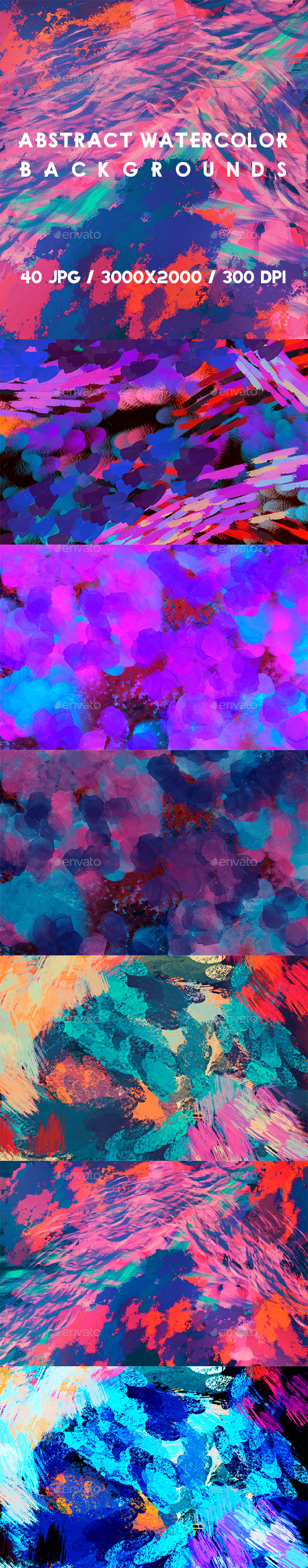40 Abstract Watercolors Backgrounds - Abstract Backgrounds