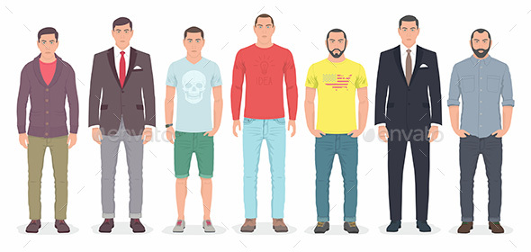 Group of Men - People Characters