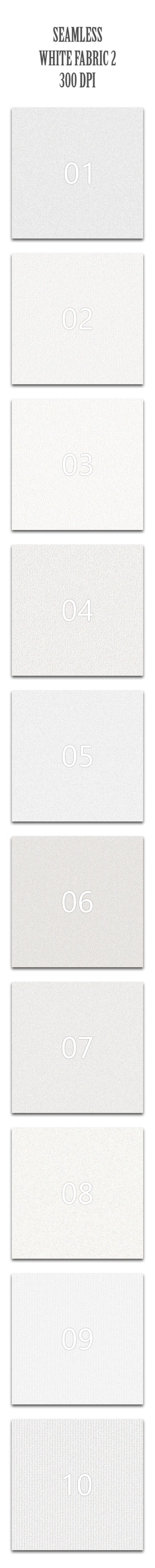 Seamless White Fabric 2 - Textures / Fills / Patterns Photoshop