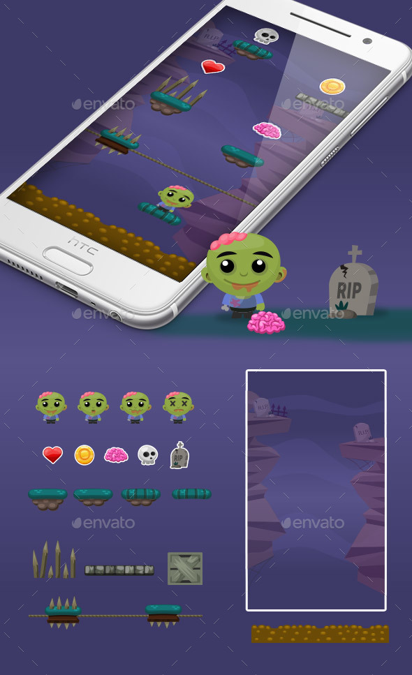 Zombie Jump Game Kit - Game Kits Game Assets