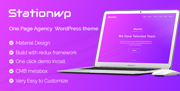 StationWP - One Page Agency  WordPress theme - Business Corporate