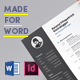 Bold Resume Made for Word - GraphicRiver Item for Sale