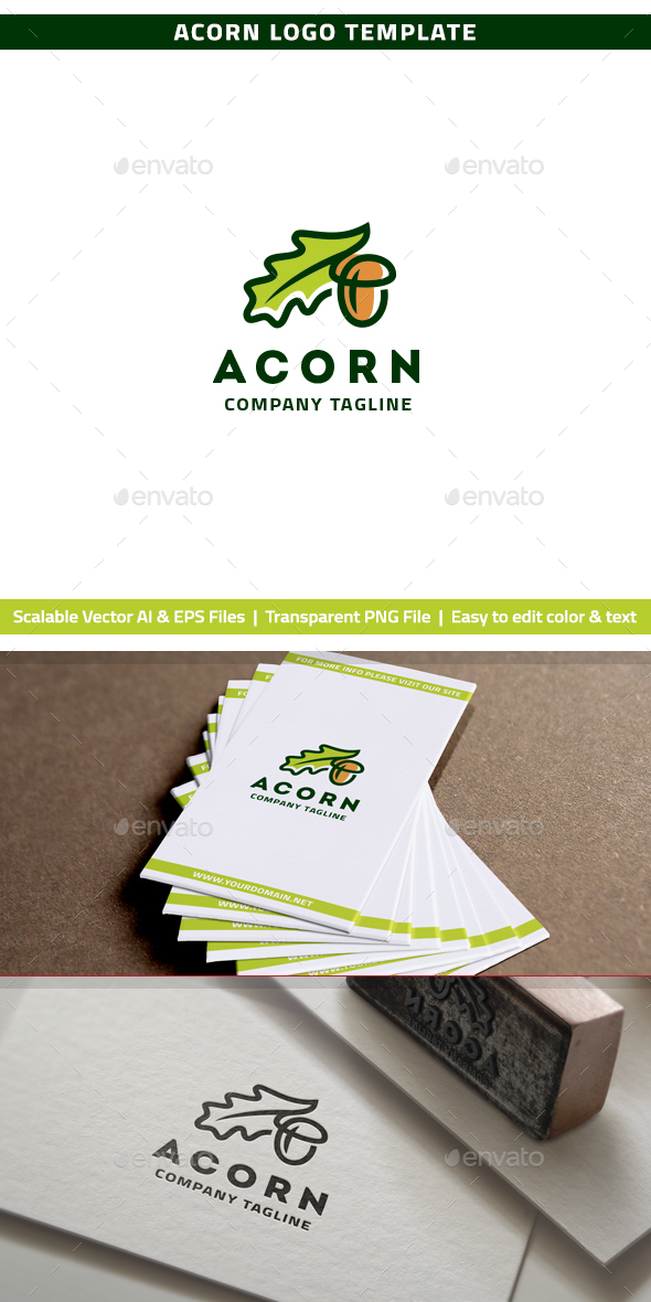 Acorn Logo - Nature Logo Templates
