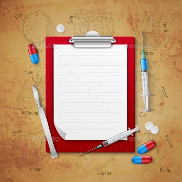 Doctors Notebook Medical Composition - Health/Medicine Conceptual
