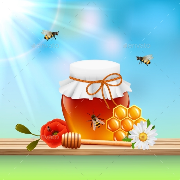 Honey Colored Composition - Backgrounds Decorative