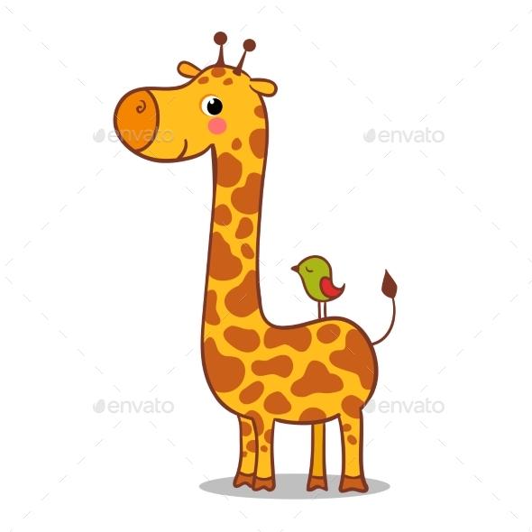 Giraffe Calf Standing - Animals Characters