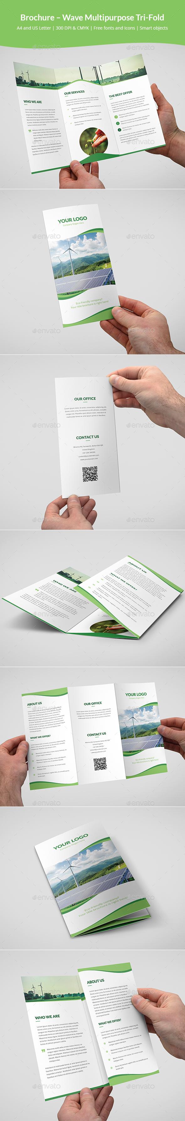Brochure – Wave Multipurpose Tri-Fold - Corporate Brochures